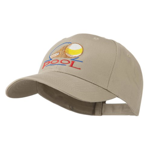 e4Hats.com Billiard Pool Logo Embroidered Cap - Khaki OSFM ()
