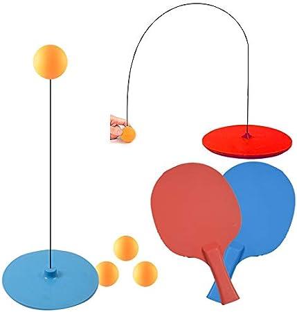 SISHUINIANHUA Juego De Herramientas De Entrenamiento De Ping Pong Juego De Ejercicios De Práctica De Eje Suave Estudio De Autoestudio Tenis Adecuado para El Entrenamiento De Precisión Pingpong Set
