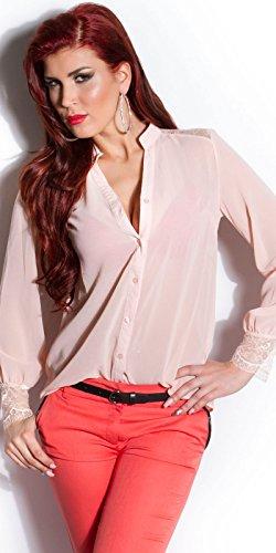 In-Stylefashion - Camiseta sin mangas - para mujer albaricoque