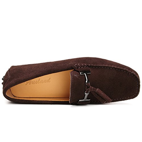 Café Confort Cuir Chaussure D7157 Loafers Homme Mocassin Shenduo Ville de OwqAZZ