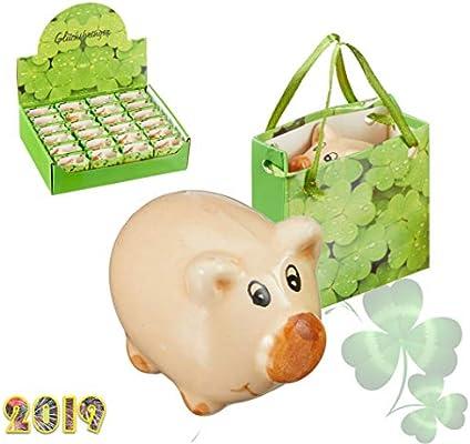 Glücksschwein Echtes Porzellan Glücksschweinchen Glücksbringer