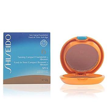 Shiseido Tanning Compact Foundation for Women SPF 60, Bronze, 6.7 Ounce