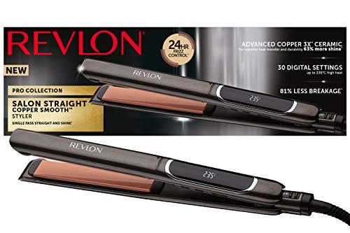 Revlon Pro Collection Salon Straight Copper Hair Straightener, 25 mm,...