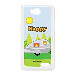 Sassy - Happy Camper 10491 White Hard Plastic Case for LG L70 by Sassy Slang + FREE Crystal Clear Screen Protector