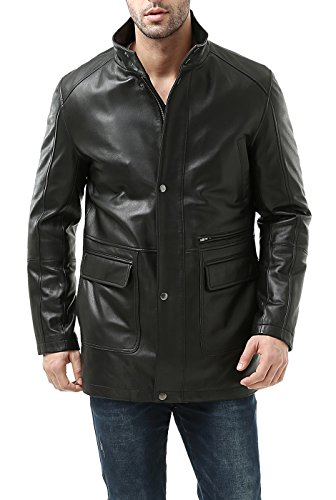 Zipper Leather Jacket Car Coat - 1