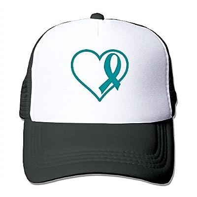 RUN_RUNNING&& Cervical Cancer Ribbon1 Men's Adjustable Mesh Snapback Cap Hat