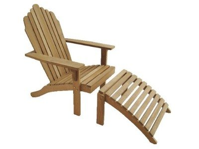 Atlanta Teak Furniture   Teak Adirondack With Footrest