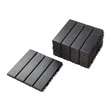 Ikea Outdoor Deck And Patio Interlocking Flooring Tiles (Dark Gray)