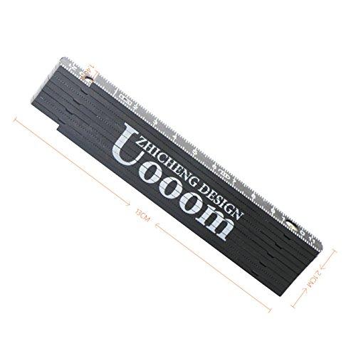 UOOOM 1m Folding Ruler Metric Ruler Measure Tool (Black)