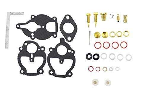 iFJF Carburetor Rebuild Kit with 3 Different Bowl Cover Gasket for Zenith Carb Ford 2N 8N 9N IH Farmall 100 130 140 200 230 240 330 404 A AV B - Kit Carburetor Zenith