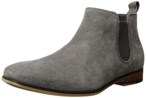 (Kenneth Cole REACTION Men's Guy Chelsea Boot Grey 10 M US)