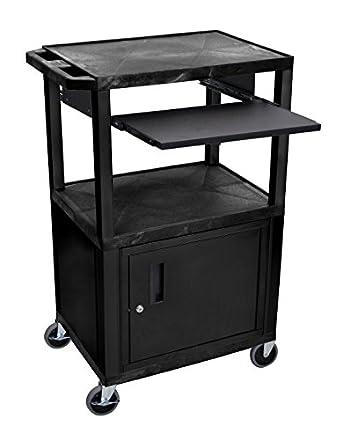 Amazon.com: H Wilson wtps42 C2e-b 3-Shelf carro con Negro ...