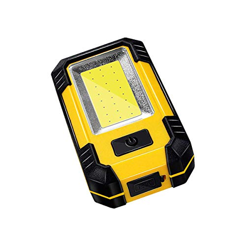 LED Work Light Rechargeable with USB Port, Multi-use COB light, Magnetic Base & Hanging Hook, 30W 1200Lumens 5000K Super Bright Flood Light for Camping, Fishing,Hurricane,Car Repairing, Emergenc