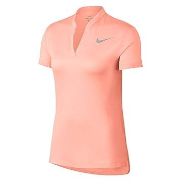 Nike 929503, Polo Donna, (Rosa Claro 646), Medium: Amazon.it ...