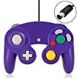 VOYEE Wired Controller/Gamepad for Nintendo Gamecube & Wii Console (Purple)