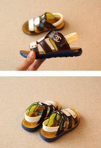Ohmais Kinder Jungen flach Freizeit Sandalen Sandaletten Kleinkinder Halbschuhe Sandalette Weiß