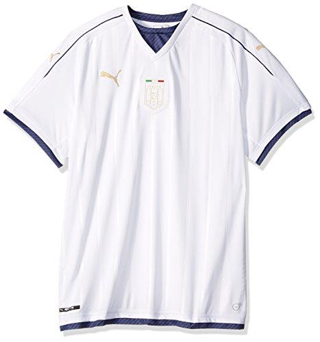 PUMA Men's Standard FIGC Italia Tribute Away Shirt Replica, White/Peacoat, Medium ()