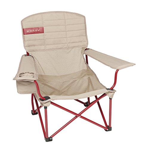 Kelty Lowdown Mesh Camp Chair, Tundra/Chili Pepper