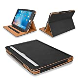 MOFRED Black & Tan Apple iPad Executive Leather Case for Apple iPad 9.7' (For 2017,2018 & 2019 Versions)- Voted by 'The Daily Telegraph' as #1 iPad Case! (iPad Models A1822, A1823, A1893, A1954)
