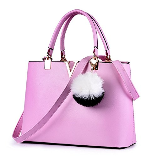 NICOLE & DORIS For Women's Casual Shoulder Cross Body Bags Spring 2017 Spring New Trends Minimal Fashion Handbags (Purple) by NICOLE & DORIS (Image #1)