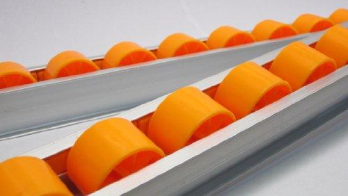 Aluminum-Alloy-Skate-Conveyor-Roller-Section-w-1-12-X-1-Plastic-Wheels-2-M-Length