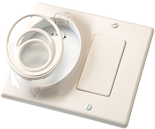 Kichler 370011WH Accessory Dual Gang CoolTouch Wall Plate, White Material (Not Painted) by KICHLER