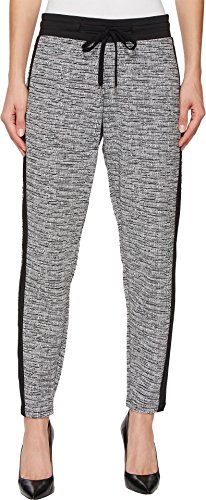 Metallic Stripe Pants - HUE Women's Tuxedo Lux Tweed Leggings, Black, Extra Large