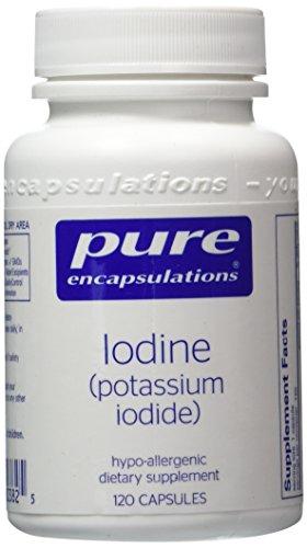 Puros encapsulados - 120 vcaps-2 pack de yodo (yoduro de potasio)