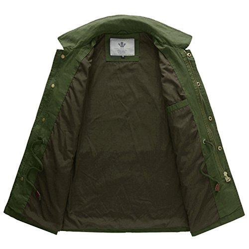 Donna Rovesciato Militare In Zip Verde Giacca Colletto Wenven Cotone Primavera FOgxR84q