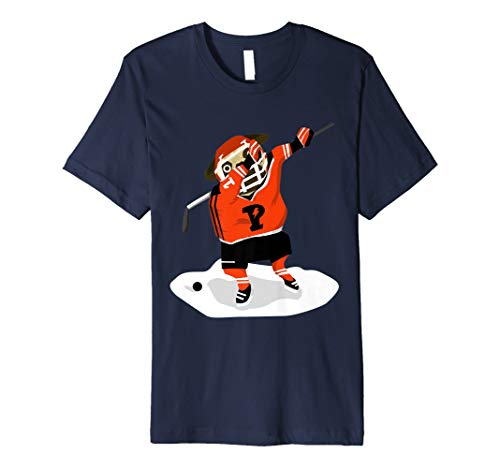 Dabbing Ice Hockey Pug Funny Sports Lover Graphic
