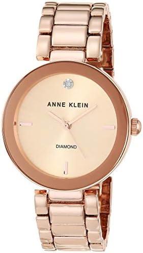 Anne Klein Women's Genuine Diamond Dial Bracelet Watch WeeklyReviewer