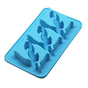 Set of 2 Safe And Soft Silicon Ice Cube Tray, Whale Pattern