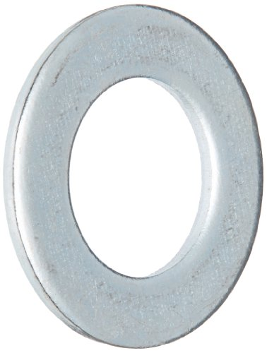 Steel Flat Washer, Zinc Plated Finish, DIN 125, Metric, M6 Screw Size, 6.4 mm ID, 12 mm OD, 1.6 mm Thick (Pack of 100)