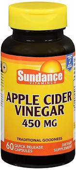 Sundance Apple Cider Vinegar 450 mg - 60 Quick Release Capsules, Pack of 2 by Sundance
