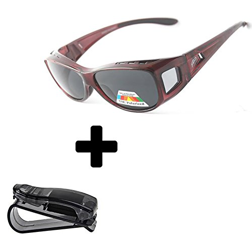 Fit Over Sunglasses Polarized Sunglasses to Wear Over Glasses plus car holder - Eyeglass Bling Frames