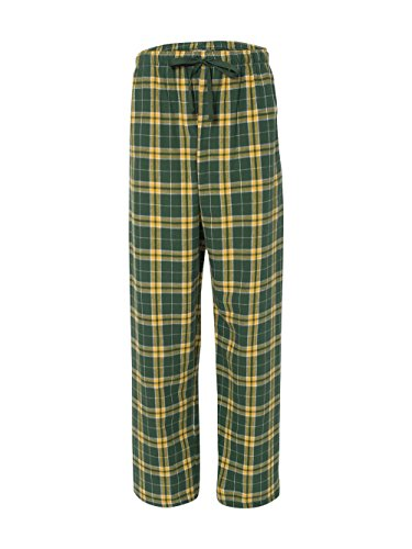 Boxercraft-Fashion Flannel Pant-F19 - Green/Gold - (Gold Flannel)