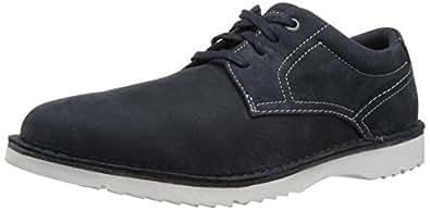 ROCKPORT Men's Cabot Plain Toe Shoe, Navy Nubuck, 6.5 W US