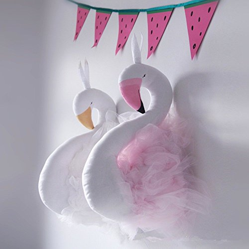 kazar Swan Doll Decoration Flamingo Handmade Swan Stuffed Toy Animals Baby Room Decor Dolls  Stuffed Toys Girls Gifts (pink)