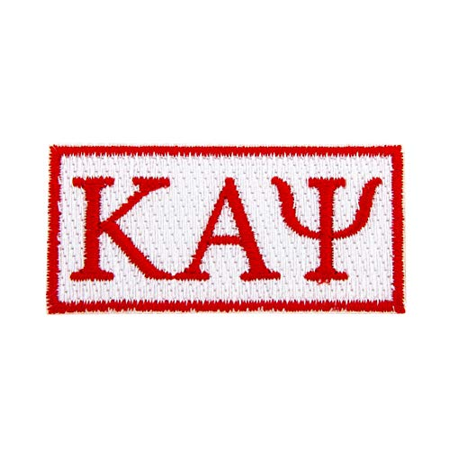 (Kappa Alpha Psi Fraternity Rectangle Letter Embroidered Appliqué Patch Sew or Iron On Greek Blazer Jacket Bag Nupe (Rectangle Letter)