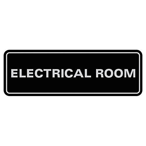 Standard Electrical Room Door/Wall Sign - Black - Small