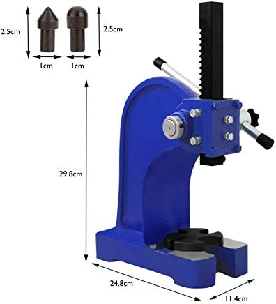 T-Mech Arbor Press Heavy Duty Workshop Bearings Lever Punch Manual Press Arbour Metalwork Pressing 1T