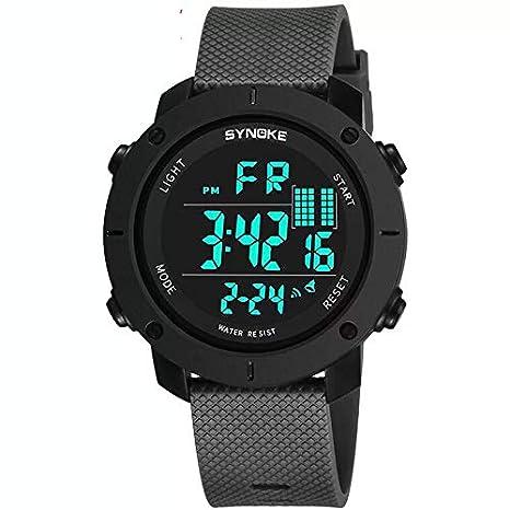 Joven Digital Relojes, niños Deportes 5 ATM Impermeable Digital con Alarma/Cronómetro/el luz, en exterior reloj de pulsera para Teen Joven: Amazon.es: Salud ...
