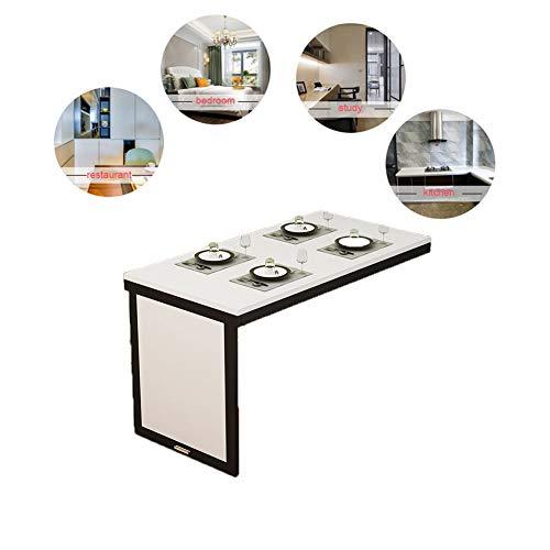 solo fällbord väggfällbart bord för köket, osynligt väggbord, bord, enkel och stilfull, 4 färger 120 x 50 cm