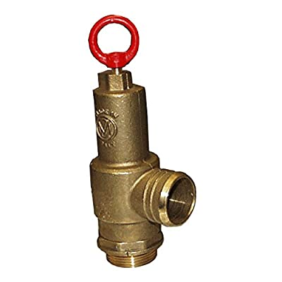 "Brass Pressure Relief Valve, 230 CFM, 1-1/2"" Diameter, Fully Adjustable, Non-Code (1049-0000 MZ) by MZ"