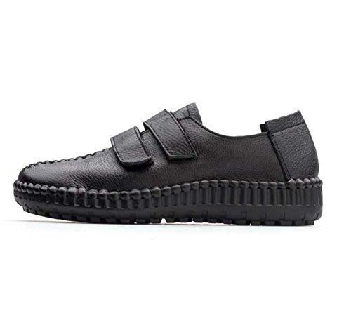 pie tamaño Comforty mujeres Madre velcro Color Court zapatos 40 del Eu plano Las del Shoes Splice Black del zapatos casuales bombean del dedo talón 35 Pure alrededor Ywg6nRq