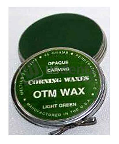 CORNING- Inlay Wax Reg Green Tins 2oz. - (mfg #097) Superior Wax for Build-up - Scientifically Prepared with Correct - and Reliable Wax Working Capabilities Lumps (ram) 106854 Us Dental - Inlay Wax