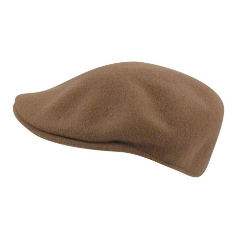 (Kangol Men's Classic Wool 504 Cap, Our Most Iconic Shape, Camel (Large))