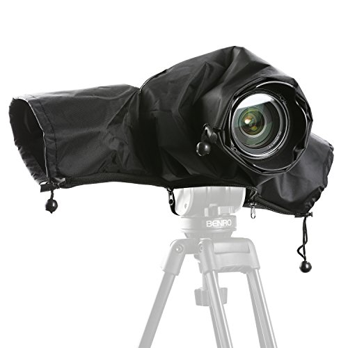 Movo CRC01 Waterproof Nylon Rain Cover with Enclosed Hand Sleeves for Canon EOS, Nikon, Sony, Olympus, Pentax and Panasonic DSLR Cameras