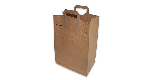 Amazon.com: 50 bolsas de papel Kraft para compras de 12x7x17 ...