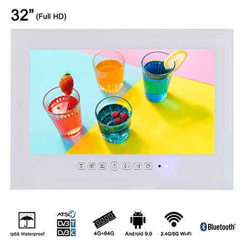 "Soulaca 32"" Android Smart White Big Screen Waterproof Bathroom LED TV T320FA-W"